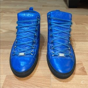 Balenciaga Blue High Top Sneakers